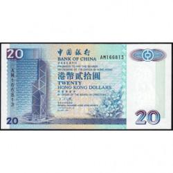 Hong Kong - Pick 329a - Bank of China - 20 dollars - 01/05/1994 - Etat : NEUF