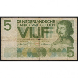Hollande - Pick 90a - 5 gulden - 20/04/1966 - Etat : B+