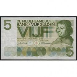 Hollande - Pick 90a - 5 gulden - 20/04/1966 - Etat : SUP