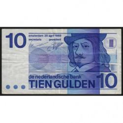 Hollande - Pick 91a - 10 gulden - 25/04/1968 - Etat : TB+