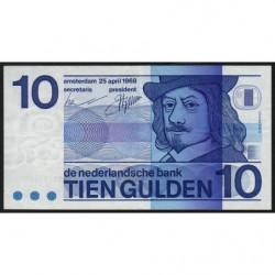 Hollande - Pick 91b - 10 gulden - 25/04/1968 - Etat : TTB