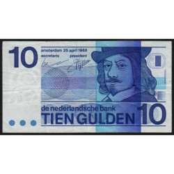 Hollande - Pick 91b - 10 gulden - 25/04/1968 - Etat : TB