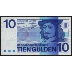 Hollande - Pick 91b - 10 gulden - 25/04/1968 - Etat : TTB+
