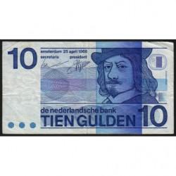 Hollande - Pick 91b - 10 gulden - 25/04/1968 - Etat : TB-