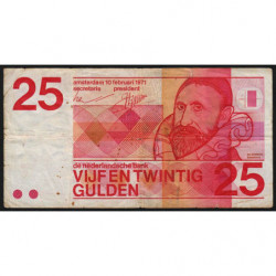 Hollande - Pick 92a - 25 gulden - 10/02/1971 - Etat : B+