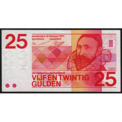 Hollande - Pick 92a - 25 gulden - 10/02/1971 - Etat : TTB