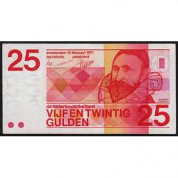 Hollande - Pick 92a - 25 gulden - 10/02/1971 - Etat : TTB