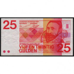 Hollande - Pick 92a - 25 gulden - 10/02/1971 - Etat : TB+