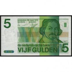Hollande - Pick 95 - 5 gulden - 28/03/1973 - Etat : TTB-