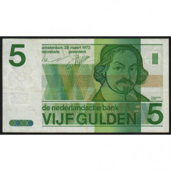 Hollande - Pick 95 - 5 gulden - 28/03/1973 - Etat : TB+