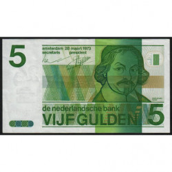 Hollande - Pick 95 - 5 gulden - 28/03/1973 - Etat : TTB