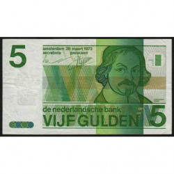 Hollande - Pick 95 - 5 gulden - 28/03/1973 - Etat : TB+