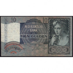 Hollande - Pick 56b - 10 gulden - 12/06/1941 - Etat : TTB-