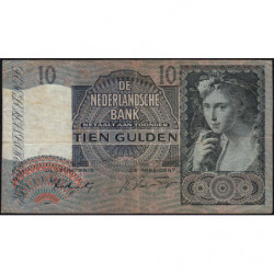 Hollande - Pick 56b - 10 gulden - 06/11/1941 - Etat : TB+