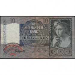 Hollande - Pick 56b - 10 gulden - 27/03/1942 - Etat : TB+