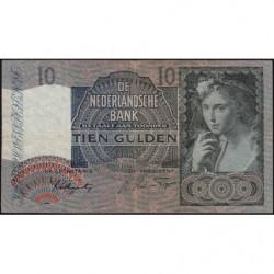 Hollande - Pick 56b - 10 gulden - 27/03/1942 - Etat : TB+