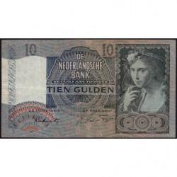Hollande - Pick 56b - 10 gulden - 27/04/1942 - Etat : TB-