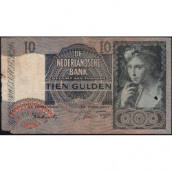 Hollande - Pick 56b - 10 gulden - 01/05/1942 - Etat : B
