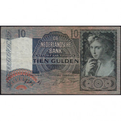 Hollande - Pick 56b - 10 gulden - 25/06/1942 - Etat : TB+