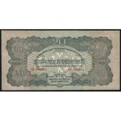 Hongrie - Billet militaire - M 6b - 20 pengö - 1944 - Etat : NEUF
