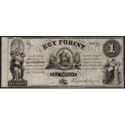 Hongrie - Emission de Philadelphie - Pick S 141r - 1 forint - 1852 - Etat : SPL