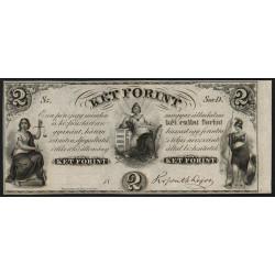 Hongrie - Emission de Philadelphie - 2 forint - 1852 - Etat : SPL