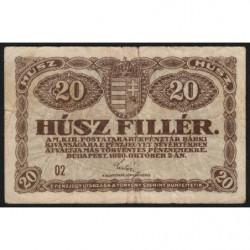 Hongrie - Pick 43 - 20 fillér - 02/10/1920 - Etat : TB