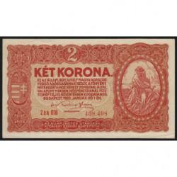 Hongrie - Pick 58 - 2 korona - 01/01/1920 - Etat : SUP+