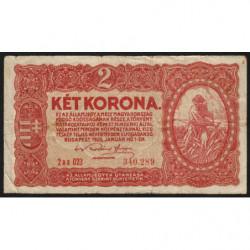 Hongrie - Pick 58 - 2 korona - 01/01/1920 - Etat : TB-