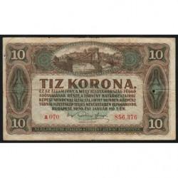 Hongrie - Pick 60 - 10 korona - 01/01/1920 - Etat : TB-
