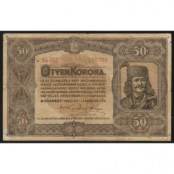Hongrie - Pick 62 - 50 korona - 01/01/1920 - Etat : TB
