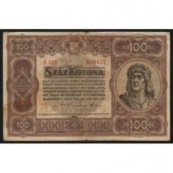 Hongrie - Pick 63 - 100 korona - 01/01/1920 - Etat : TB