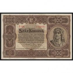 Hongrie - Pick 63 - 100 korona - 01/01/1920 - Etat : SUP+