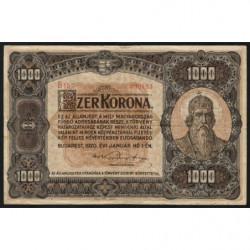 Hongrie - Pick 66 - 1'000 korona - 01/01/1920 - Etat : TB+