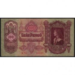 Hongrie - Pick 98 - 100 pengö - 01/07/1930 - Etat : TB+