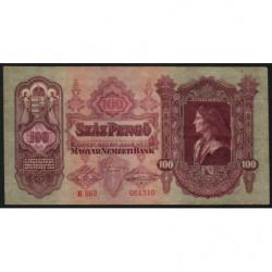 Hongrie - Pick 98 - 100 pengö - 01/07/1930 - Etat : TTB