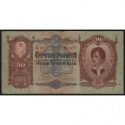 Hongrie - Pick 99 - 50 pengö - 01/10/1932 - Etat : TB+