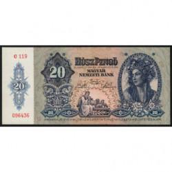 Hongrie - Pick 109 - 20 pengö - 15/01/1941 - Etat : NEUF