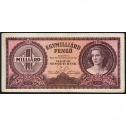 Hongrie - Pick 125 - 1'000'000'000 pengö - 18/03/1946 - Etat : SUP+