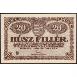 Hongrie - Pick 43 - 20 fillér - 02/10/1920 - Etat : NEUF
