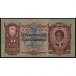Hongrie - Pick 99 - 50 pengö - 01/10/1932 - Etat : TTB+
