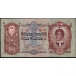Hongrie - Pick 99 - 50 pengö - 01/10/1932 - Etat : NEUF