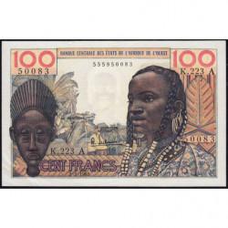 Côte d'Ivoire - Pick 101Ae - 100 francs - Série K.223 - 02/03/1965 - Etat : SUP
