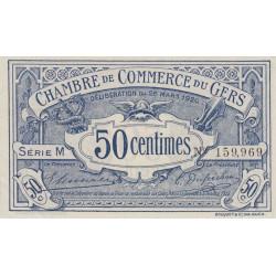 Auch (Gers) - Pirot 15-18 variété - 50 centimes - Série M - 26/03/1920 - Etat : SPL