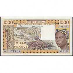 Côte d'Ivoire - Pick 107Ah - 1'000 francs - Série M.016 - 1987 - Etat : NEUF