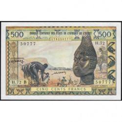 Bénin - Pick 202Bl - 500 francs - Série H.72 - 1976 - Etat : SPL