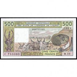 Burkina-Faso - Pick 306Ca - 500 francs - Série R.19 - 1981 - Etat : NEUF