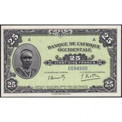 AOF - Pick 30a - 25 francs - 14/12/1942 - Etat : SUP+