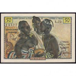 Etats Afrique Ouest - Pick 1 - 50 francs - 1958 - Etat : SPL