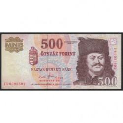 Hongrie - Pick 196c - 500 forint - 2010 - Etat : TTB